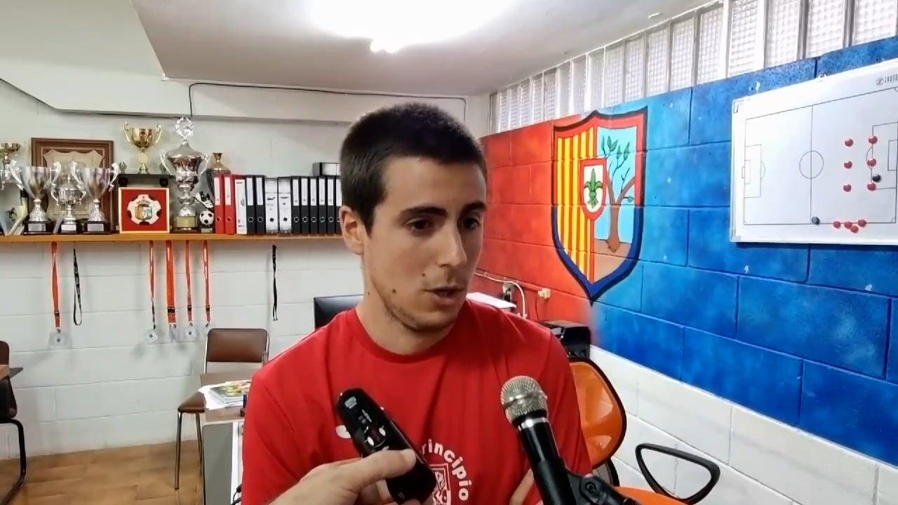 MARC VIGIL (Entrenador Fraga) Zaragoza 2014 0-2 UD Fraga / J 1 / Preferente - G 1 Primeras declaraciones del técnico de la UD Fraga, tras la primera victoria de la temporada