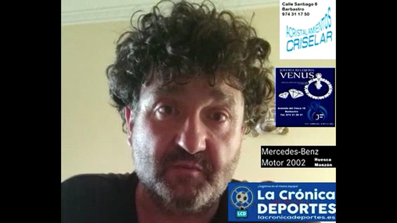 MIGUEL GRAÑEN (Entrenador Biescas) UD Biescas 0-1 Giner Torrero / J 2 / 3ª División