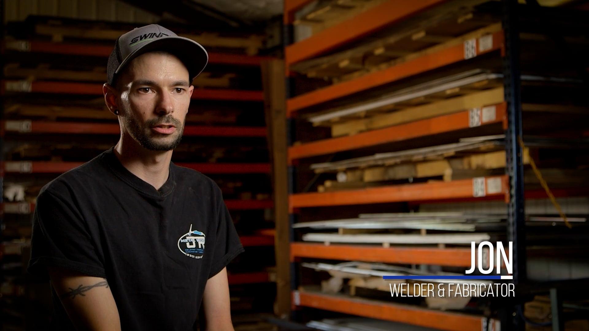 JR Metalworks | Employee Testimonials | Jon