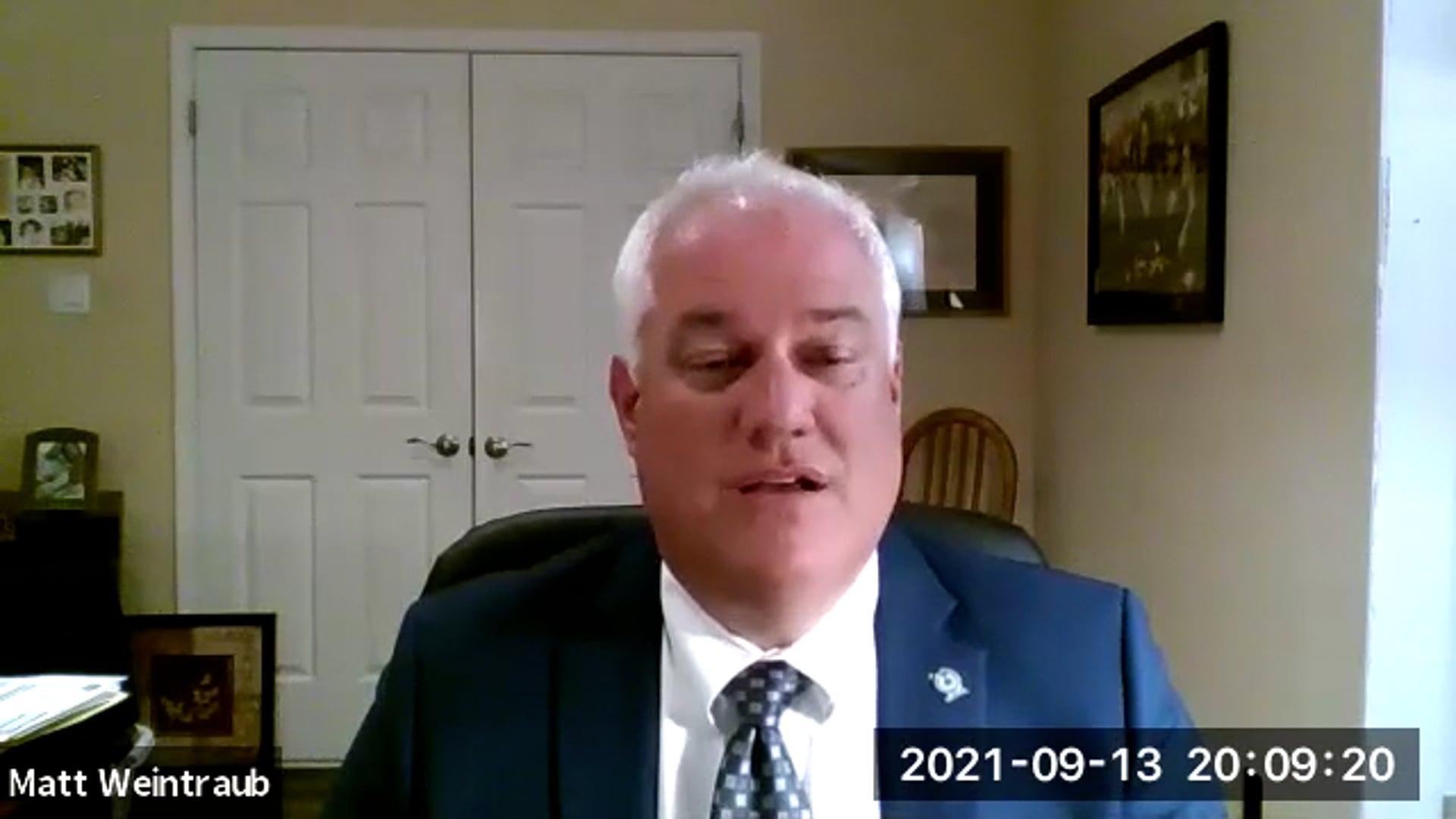 General Membership Meeting September 2021
