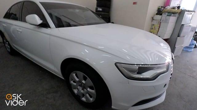 AUDI A6 - WHITE - 2012