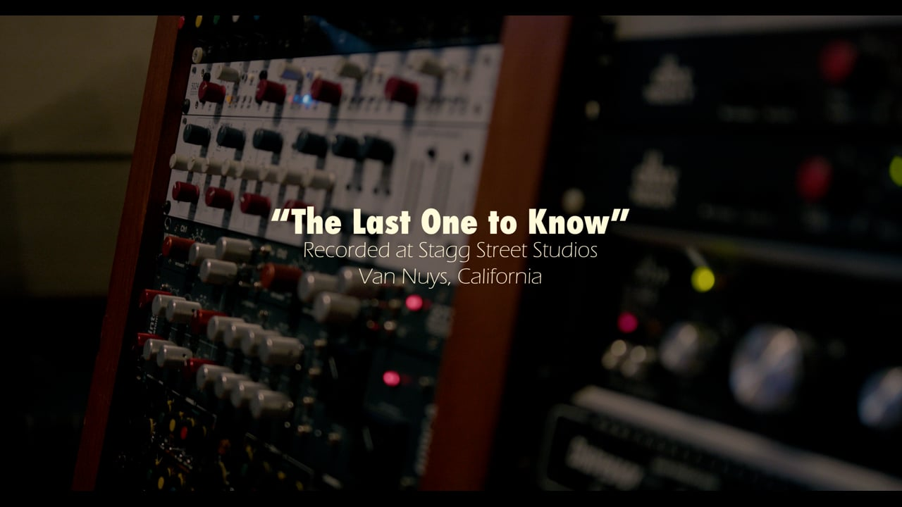 The Last One to Know - Jazz Studio Session