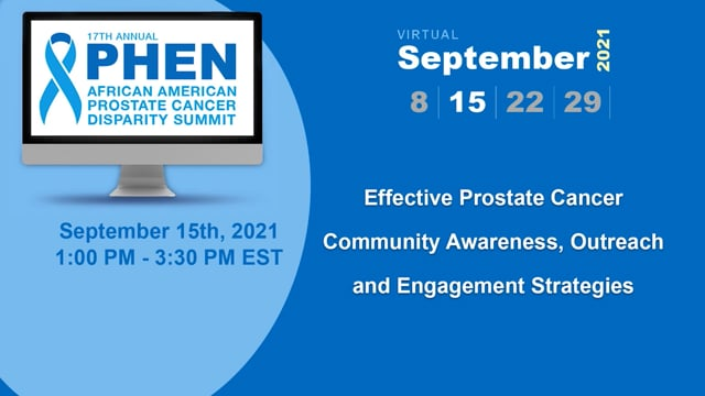 Effective Prostate Cancer Community Awareness, Outreach and Engagement Strategies