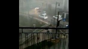 Le immagini del violento temporale che ha colpito Campobasso