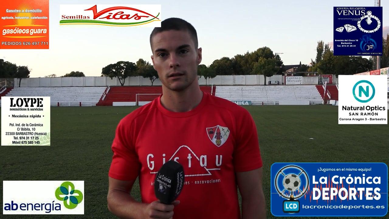 LA PREVIA / UD Barbastro - CD Belchite / LUCAS FUMANAL (Jugador Barbastro) J 3 / 3ª División