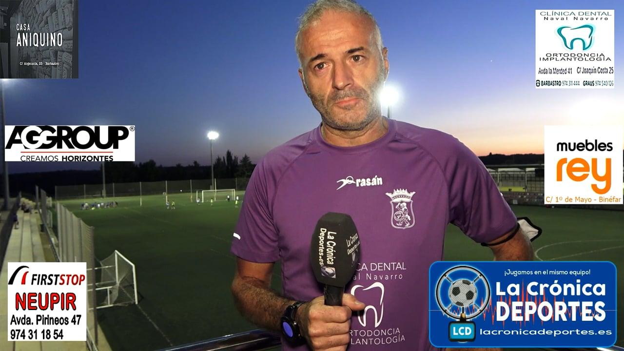 LA PREVIA / CD Sariñena - P. Ferranca Tella / ALBERT MARTÍNEZ (Entrenador Ferranca) J 2 / Preferente - G 1