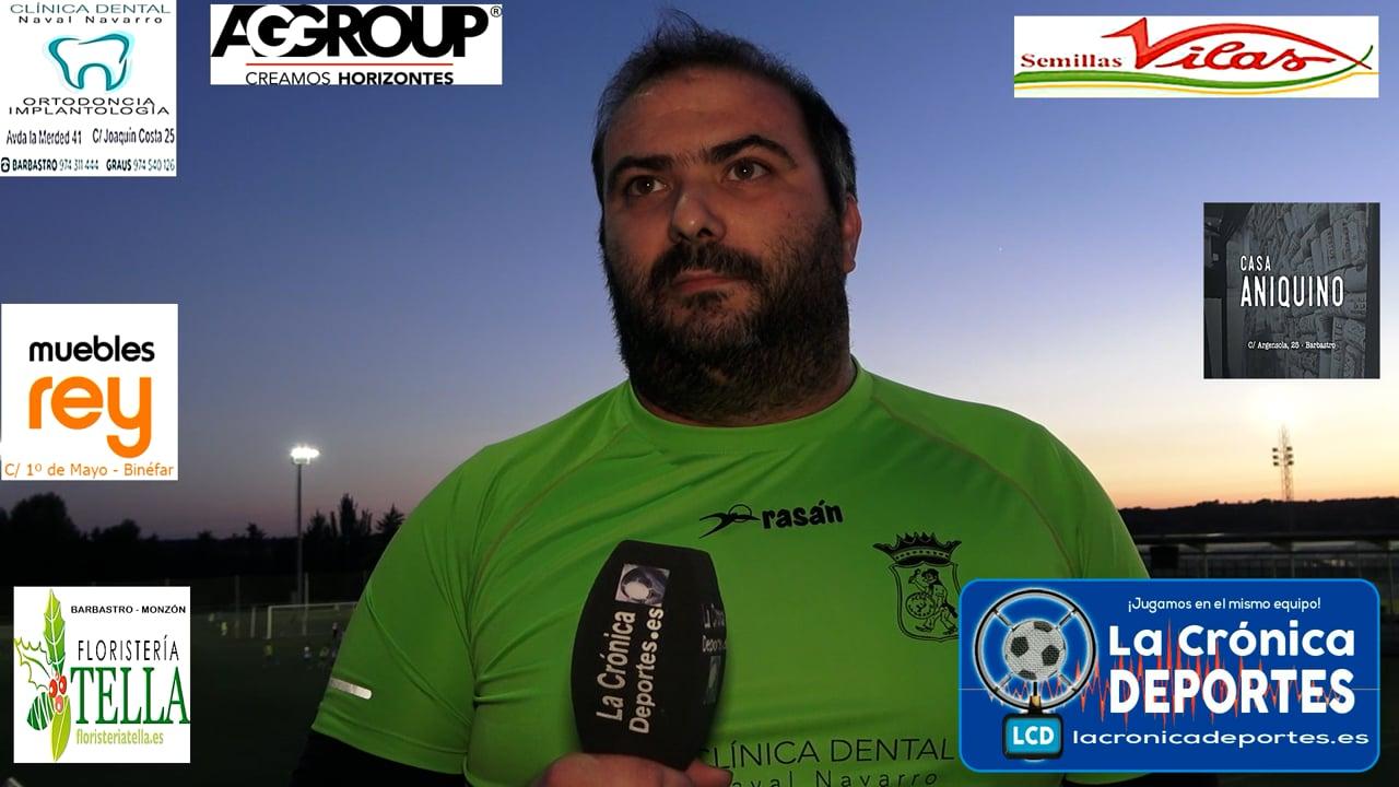 LA PREVIA / CD Sariñena - P. Ferranca Tella / GUILLERMO SOLANO (Jugador Ferranca) J 2 / Preferente - G 1