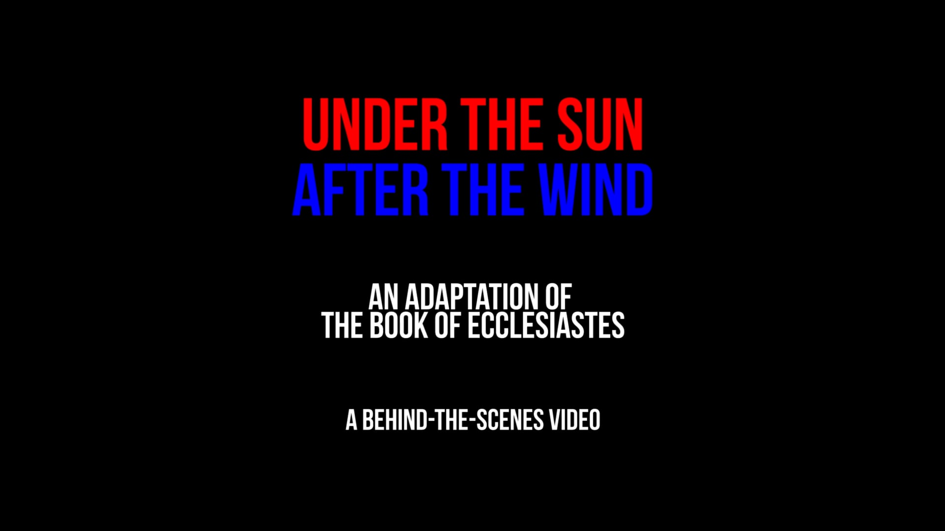 Under the Sun, After the Wind (2021) - Behind-the-Scenes