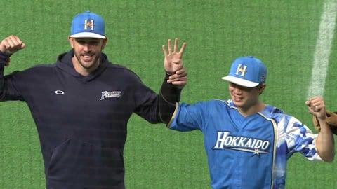 ファイターズ・西川選手・バーヘイゲン投手ヒーローインタビュー 9/18 F-M