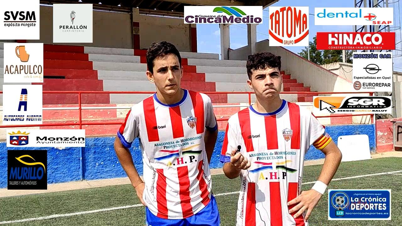Javier Guarné y Raúl Floria Monzón fútbol base Cadete Div.Honor