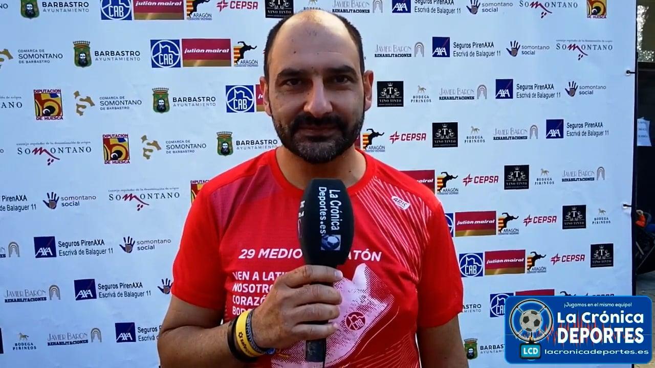 FERNANDO TORRES (Alcalde Barbastro)   ( 29 Edición ) Medio Maratón Ruta Vino Somontano y el 2º Cuarto de Maratón Campeonato de Aragón.  Organiza Club Atletismo Barbastro