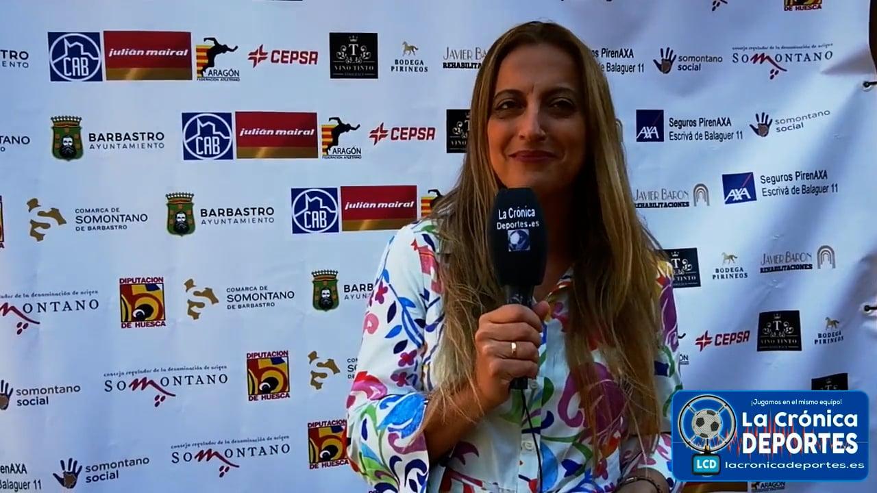 ELI RÍO (Responsable de Comunicación Denominación de Origen Vino Somontano)   ( 29 Edición ) Medio Maratón Ruta Vino Somontano y el 2º Cuarto de Maratón Campeonato de Aragón.  Organiza Club Atletismo Barbastro