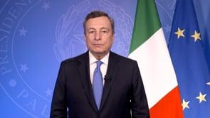 """Clima, il videomessaggio del premier Draghi: """"dobbiamo tutti fare la nostra parte, per un futuro più sostenibile ed equo"""""""