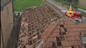 Tornado in Lombardia, case danneggiate a Corte Palasio