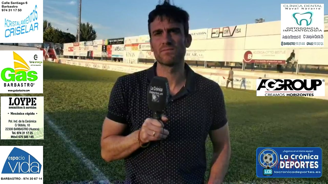 JOSÉ CARLOS COLLADOS (Entrenador Belchite) UD Barbastro 1-0 CD Belchite / J 3 / 3ª División