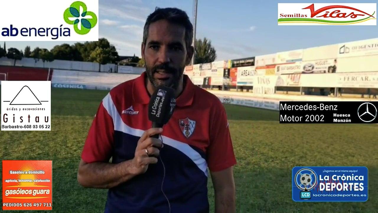 RICHI GIL (Entrenador Barbastro) UD Barbastro 1-0 CD Belchite / J 3 / 3ª División