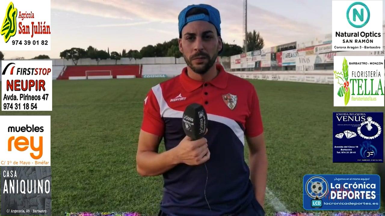 CRISTIAN CASTAÑO (Jugador Barbastro) UD Barbastro 1-0 CD Belchite / J 3 / 3ª División