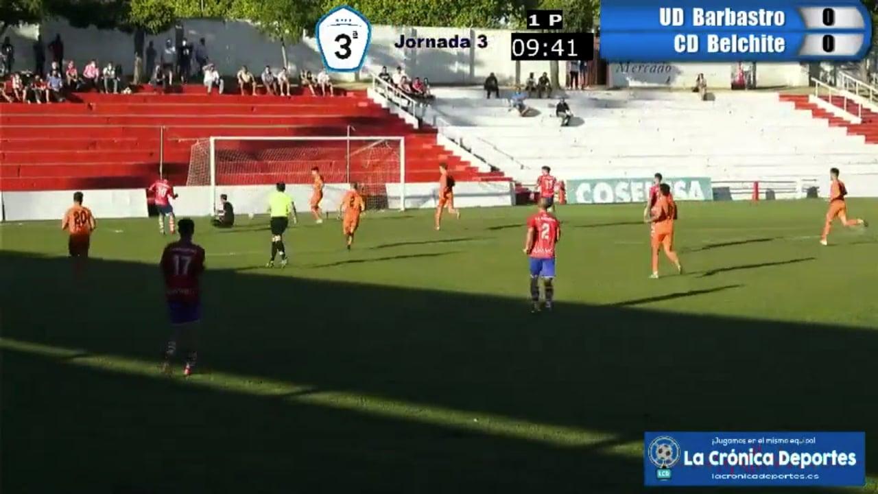GOL DE CONTE (Así lo Narrábamos)  UD Barbastro 1-0 CD Belchite / J 3 / 3ª División