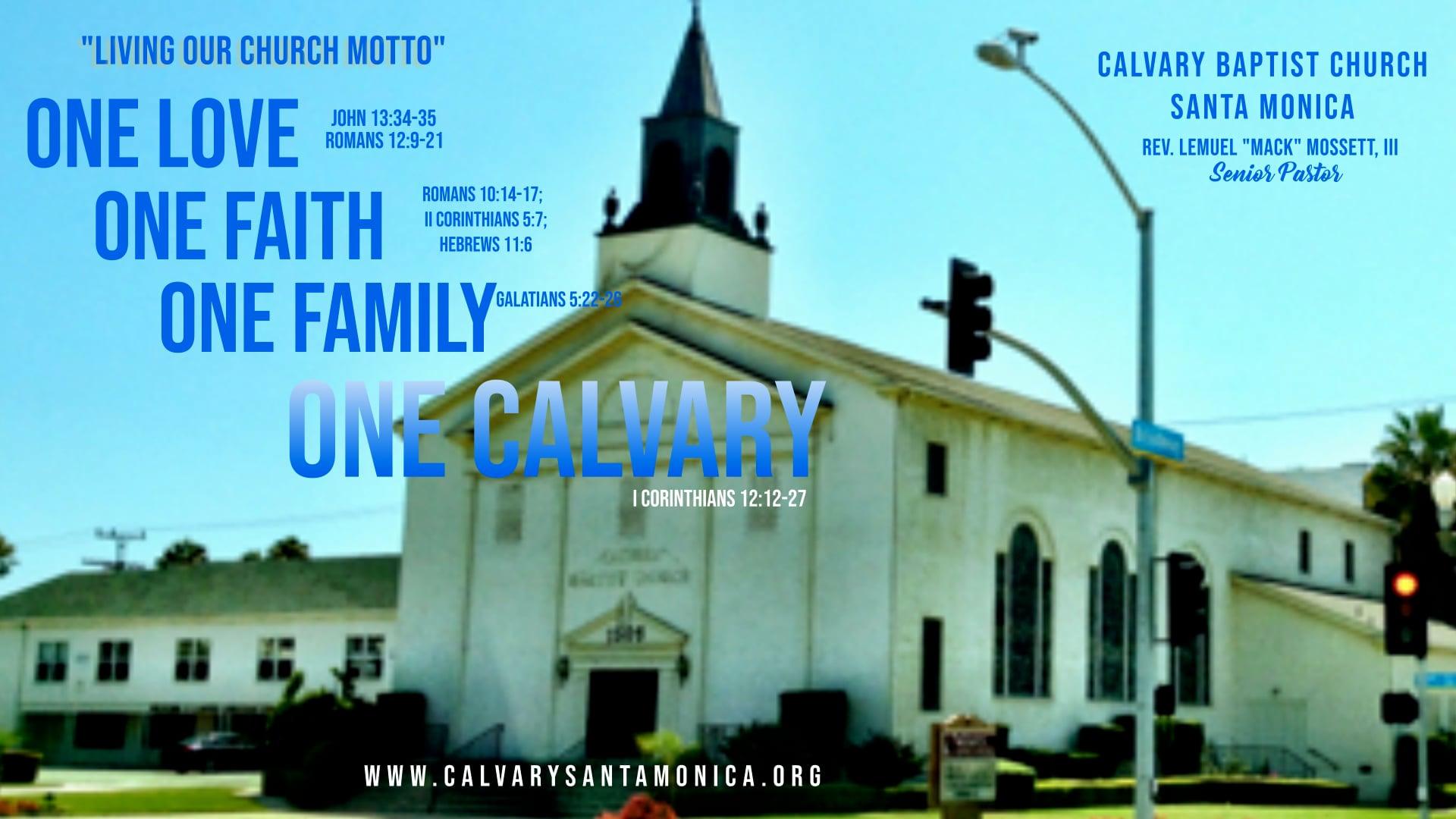 09.26.21 Calvary Baptist Church Worship Service