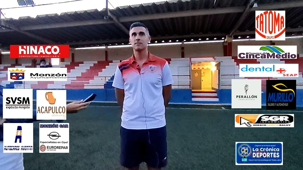 CRISTIAN ABAD (Entrenador Monzón) AT Monzón 0-0 CD Robres / J 3 / 3ª División