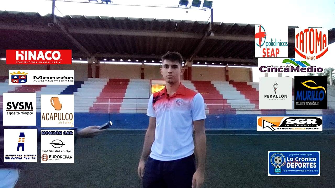 BERTO (Jugador Monzón) At Monzón 0-0 CD Robres / J 3 / 3ª División