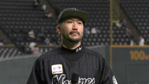 マリーンズ・石川歩投手ヒーローインタビュー  2021年9月20日 北海道日本ハムファイターズ 対 千葉ロッテマリーンズ