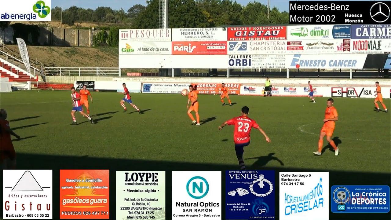 (RESUMEN y GOL) UD Barbastro 1-0 CD Belchite / J 3 / 3ª División