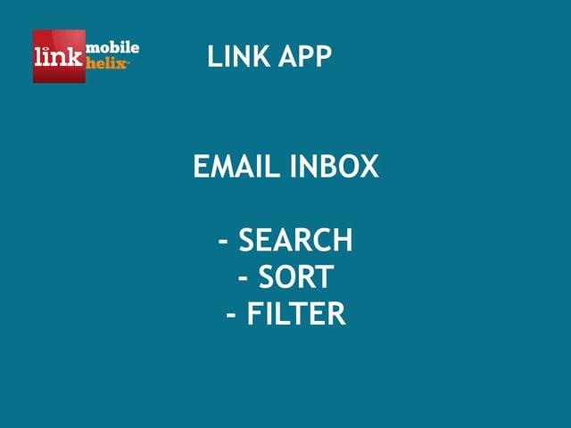 LINK App: Email Inbox Search, Sort, Filter 0:36