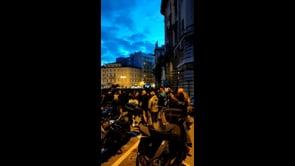 La manifestazione contro il Green Pass a Trieste