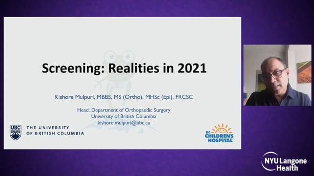 Screening Realities in 2021 – International Hip Dysplasia Symposium