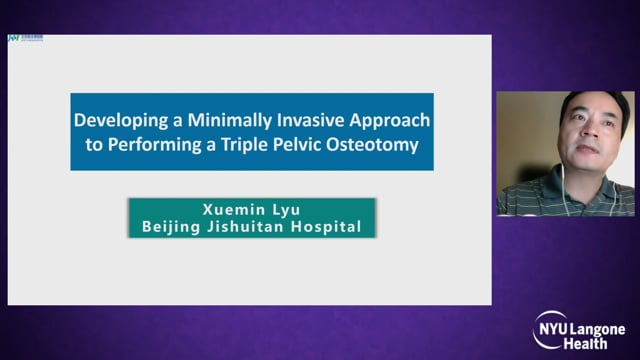 Developing a Minimally Invasive Approach to Performing a Triple Pelvic Osteotomy – Hip Dysplasia