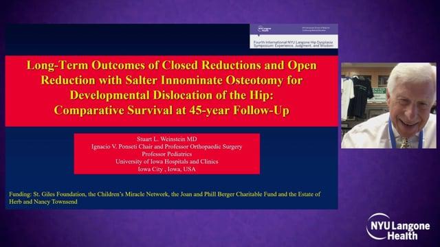Long Term Results Closed Versus Open Reduction – International Hip Dysplasia Symposium