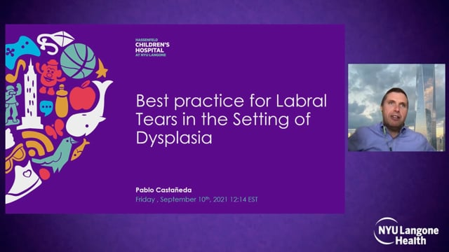 Best Practice for Labral Tears in the Setting of Dysplasia – International Hip Dysplasia Symposium