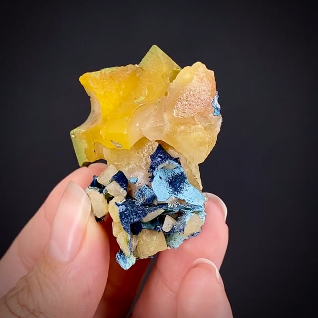 Wulfenite with Shattuckite, and Duftite