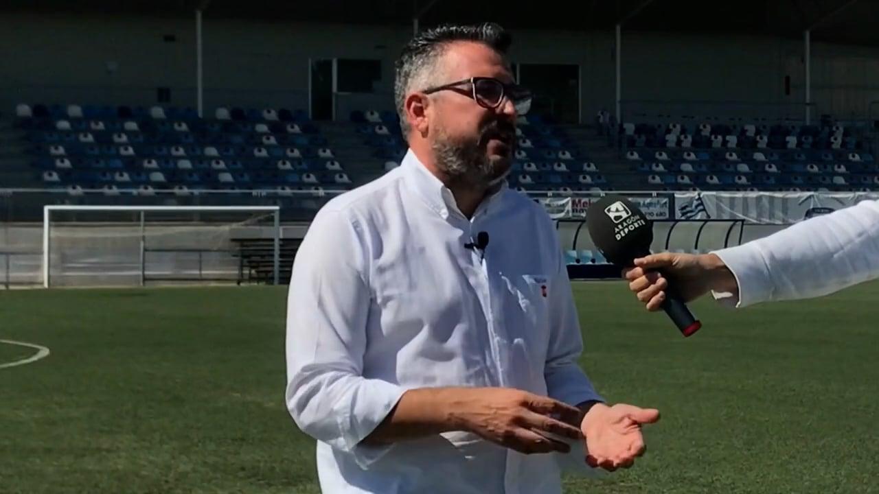 NÉSTOR PÉREZ (Entrenador Ejea) SD Ejea 1-1 SD Huesca B / J 3 / 2ª RFEF - Grupo 3 / Fuente Facebook SD Ejea