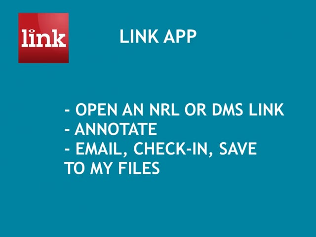 LINK: Open a DMS Link, Annotate, Email or Check-in 0:46