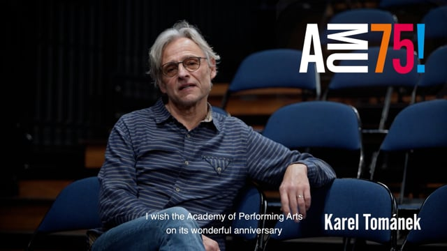 The newly elected Dean of the Theatre Faculty starting his four-year tenure in March 2021 is wishing AMU well on its 75th anniversary. Karel František Tománek is a long-time teacher of DAMU's Department of Alternative and Puppet Theatre.