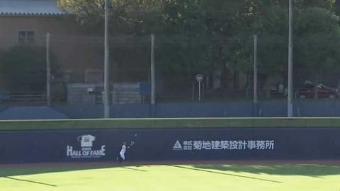 【ファーム】ファイターズ・谷口雄也 難しい打球に追いつくファインプレー!! 2021年9月22日 北海道日本ハムファイターズ 対 東京ヤクルトスワローズ(ファーム)