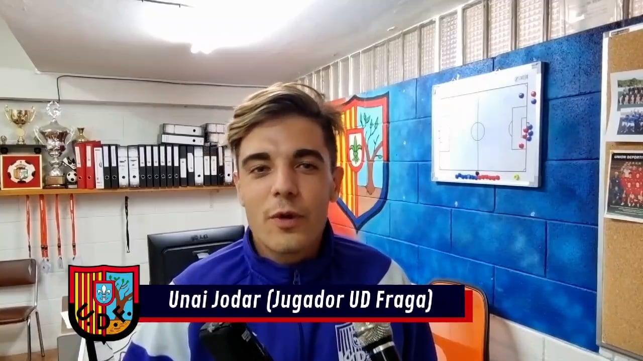 UNAI JODAR (Centrocampista UD Fraga) UD Fraga 1-0 CF Jacetano / J 2 / Preferente - G 1 / Fuente Facebook UD Fraga