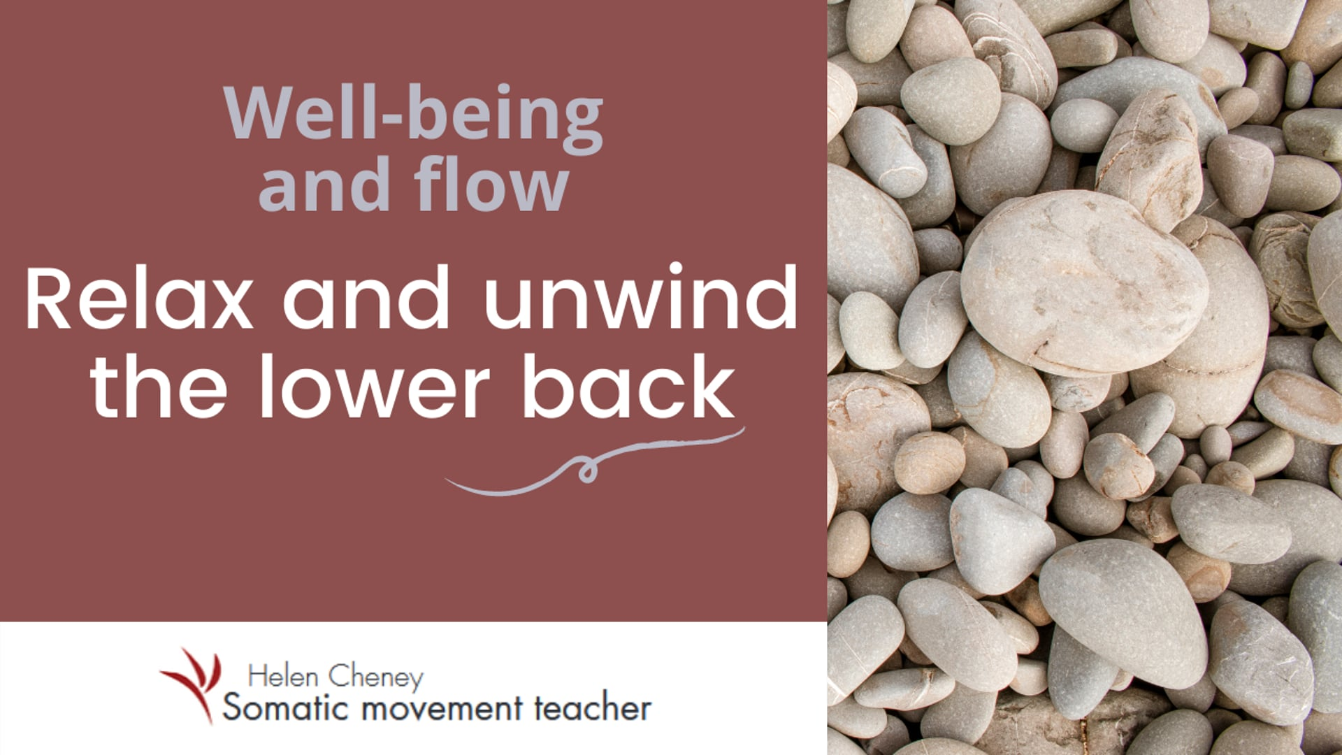 Relax and unwind the lower back