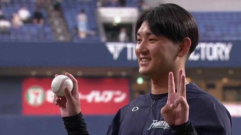 ファイターズ・立野和明投手ヒーローインタビュー 9月23日 オリックス・バファローズ 対 北海道日本ハムファイターズ