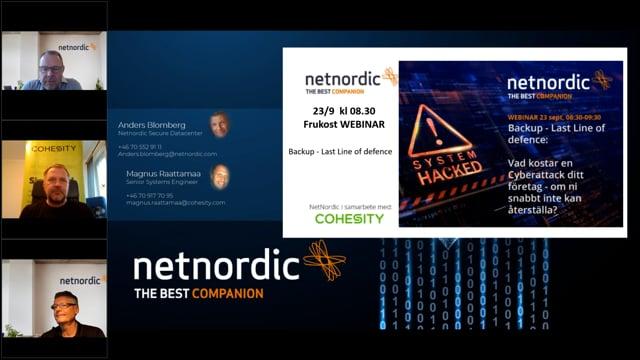 Backup – Last Line of defence: Vad kostar en Cyberattack ditt företag – om ni snabbt inte kan återställa? (23 sept 2021) thumbnail