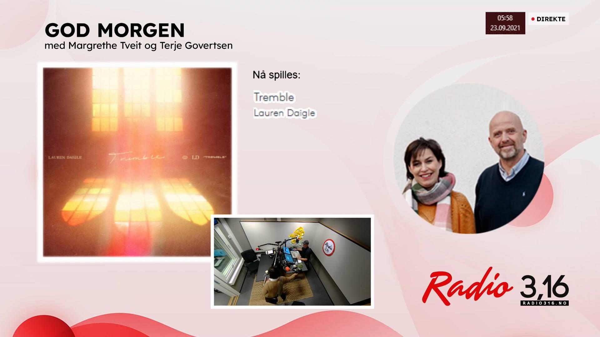 Radio 3,16 | 23 september 2021 - God Morgen med Margrethe og Terje