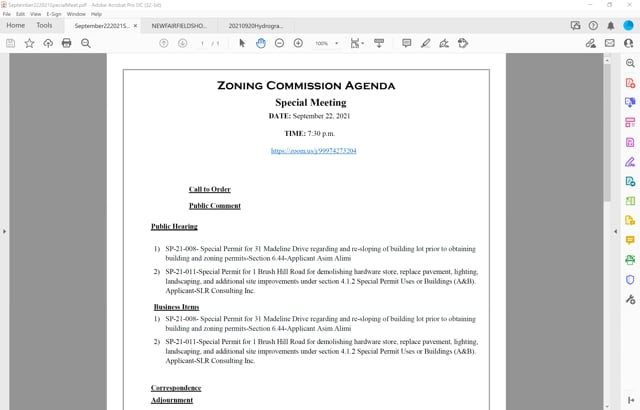 9-22-21 Special Zoning