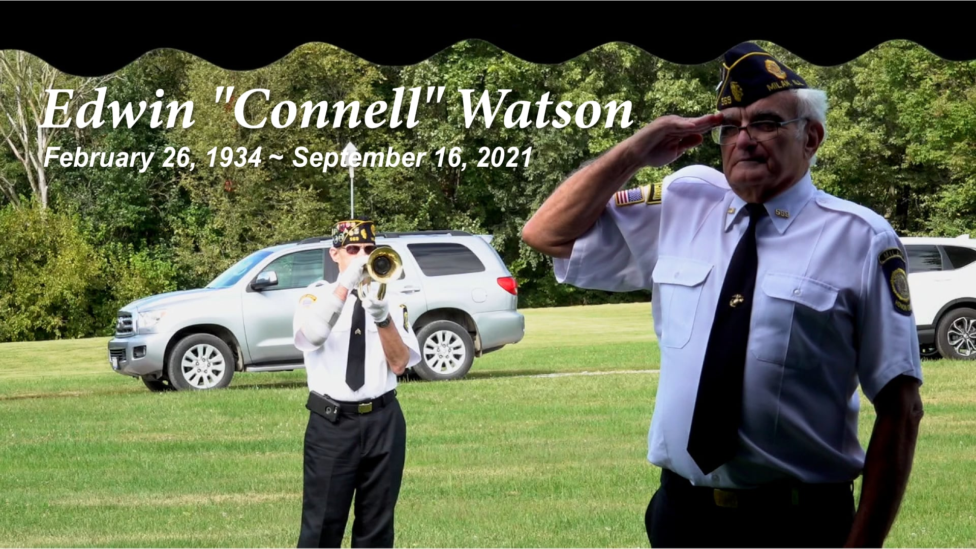 Burial Service for Edwin (Connell) Watson