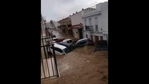 Immagini spaventose dalla Spagna, strade come fiumi in varie località