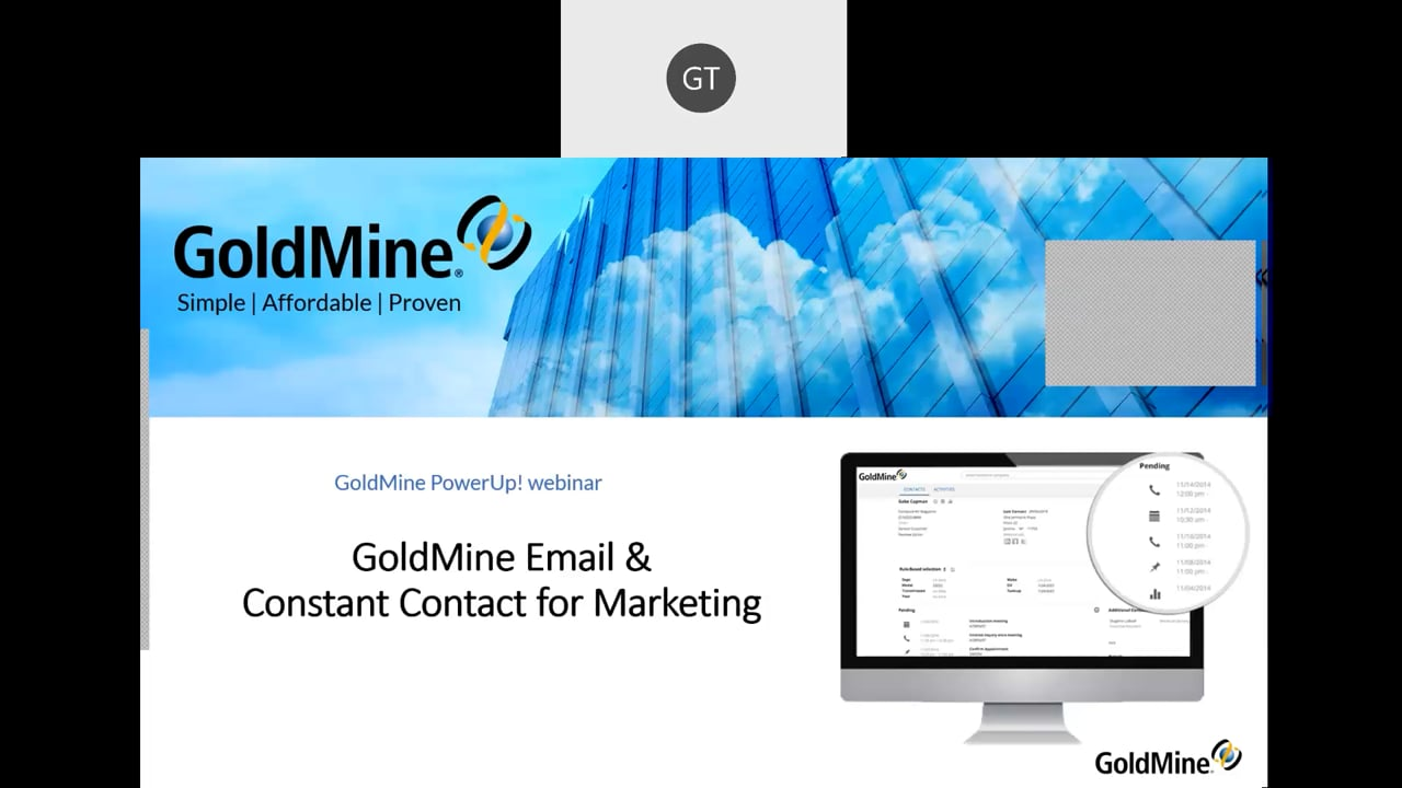 GoldMine Email & Constant Contact for Marketing