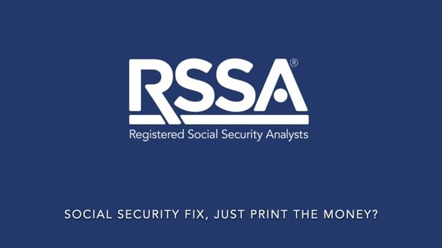 Social Security Fix, Just Print the Money?