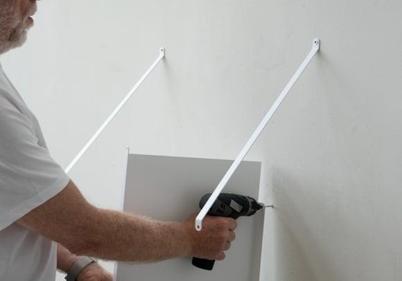 Video: Mensola sospesa 50 x 35 cm - Acciaio nero
