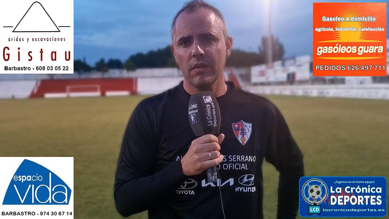 LA PREVIA / UDB Somontano - CD Sena / JOEL BORBÓN (Entrenador Somontano) J 1 / 2ª Regional - G 2-1